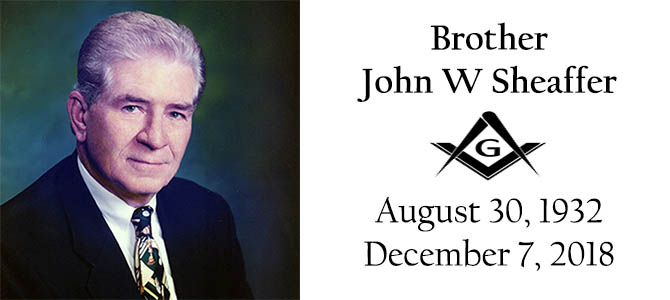 Celestial Lodge – Bro John W Sheaffer