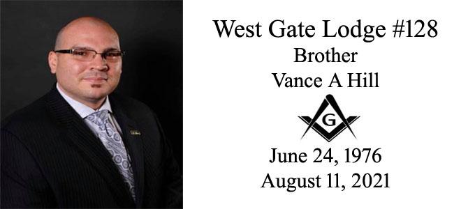 Memoriam – Bro Vance A Hill